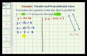 ex 1 find the equation of a line parallel to a given line passing through a given point