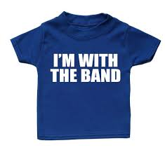 Band T Shirt Designs Im With The Band T Shirt Funny Baby Boy Girl Gift Present Birthday Cute Musicfunny Free Shipping Unisex Casual Tshirt
