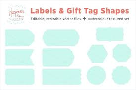 Tag Shape Template Template Gift Tags And Label Shape Template Printable Tag Free