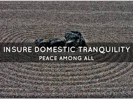 Ensure Domestic Tranquility Da Preamble By Glen Chalender