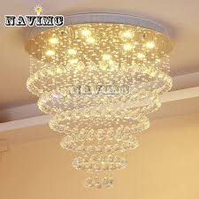 large lighting fixtures. Modern Luster De Crystal Chandelier Large Cristal Lighting Fixtures Hotel Projects Staircase Lamps Restaurant Cottage Lights M