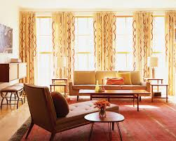 grommet curtain panels living room modern with area rug chaise lounge drum shades earth tone colors