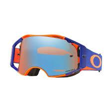 Oakley Airbrake Mx Goggle Orange Blue With Sapphire Prizm Lens