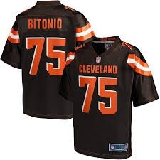 Joel Pro Bitonio Player Nfl Cleveland Browns Brown Men's Jersey Line