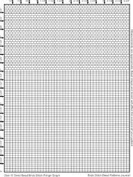 Brick Stitch Bead Patterns Journal Size 11 Seed Bead Graph Paper