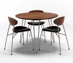 danish walnut round dining table