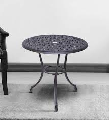 bistro outdoor round table in black