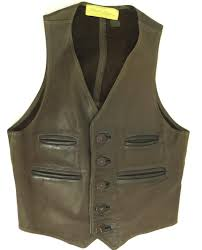 60s walter dyers leather vest h79h 1