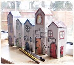 little wooden houses