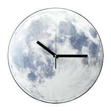 full image for unique digital desk clocks moon clock chic moon clock 40
