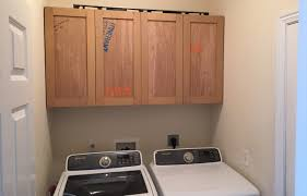 cabinets in laundry room. how to build upper cabinets - laundry room makeover in