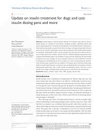Feline Insulin Dosage Chart Pdf Update On Insulin Treatment For Dogs And Cats Insulin