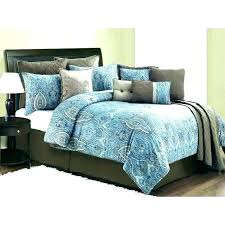 colorful queen bedding grey and teal comforter solid brown gray set sets bright colored