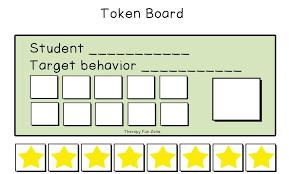 Token Reward System Chart Token Board Template Therapy Fun Zone