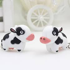 Amazon Com Bluelans Fashion Cute Cow Led Keychain With