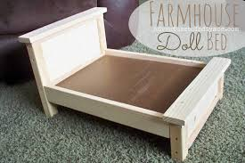 DIY Farmhouse Doll Bed for American Girl Dolls Adventures of a