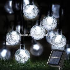 solar crystal ball lights