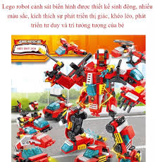 Lego robot biến hình, Đồ chơi lắp ráp, Lego Giá Rẻ, Lego cảnh sát biến hình