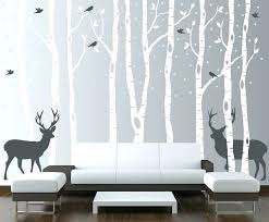 forest wall stickers birch tree decal with birds and deer vinyl sticker woodland enchanted classic of keyhole wall decal unicorn in enchanted forest