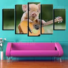 <b>Modern</b> Unframed Prints High Definition <b>Pig Wall Art</b> 5PCS Sale ...