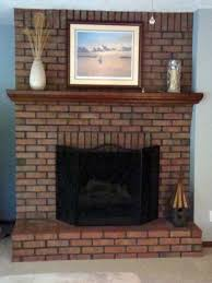 update your outdated brick fireplace