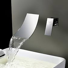 wall mount waterfall tub faucet with hand shower