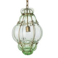 hand blown glass pendant light