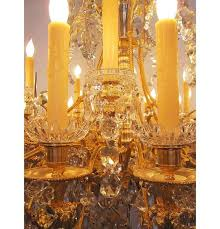 large louis xv style gilt bronze and baccarat chandelier from the spelling manor for