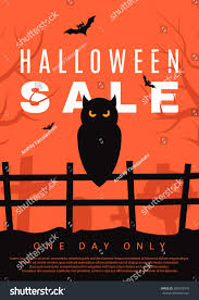 halloween sale flyer halloween sale flyer owl vector illustration stock vector 685553479