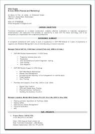 Materials Manager Resume Magnificent Sap Mm Resume Resume Sap Mm Sap Mm Resume 48 Years Experience Pdf
