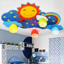 kids ceiling lighting. Kids Ceiling Lighting Children\u0027s Bedroom Lamps And Lanterns Creative Cartoon LED Eye Protection Rainbow Sun Smile Light Remote-in Lights From