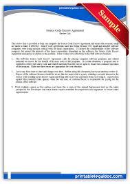 Printable Source Code Escrow Agreement Template | Printable Legal ...