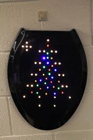 black soft toilet seat. #1 - black toilet seat wreath with led lights soft i