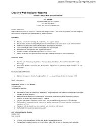 Web Design Resume Template Sample Web Designer Resume Web Design