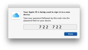 apple id two factor authentication on