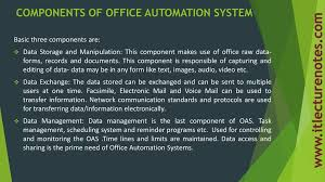 office automated system. COMPONENTS OF OFFICE AUTOMATION SYSTEM Office Automated System O