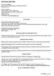 Writing A Curriculum Vitae Extraordinary Curricula Vitae CV