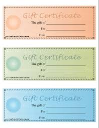 Gift Certificate Free Printable Template Gift Certificate Printable