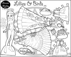 Small Picture Lillies Birds A Printable Paper Doll Coloring Page Paper Thin