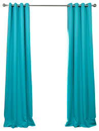stylish aqua blackout curtains and turquoise blue grommet blackout curtain single panel