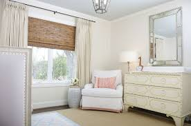 Timeless nursery features a pale gray ceiling over cream walls lined with a  beveled mirror over a 6 drawer chest doubling as changing table, Somerset  Big ...