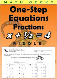 fractions brain teaser can you solve the riddle maths riddles about one step equations math worksheets