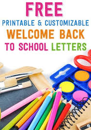 Welcome Back To School Letter Templates Free Printable And Customizable Welcome Back To School Letters