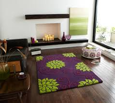 Light Purple Living Room Ideas Awesome Floral Rug With Purple As Major Color On Wooden