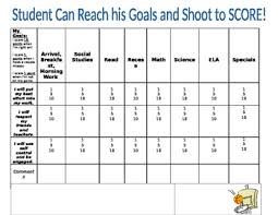 Basketball Score Chart Basketball Behavior Chart Editable