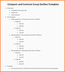 compare contrast essay outline example writing a comparison  example essay outlinecompare and contrast essay outline examplesjpg compare contrast essay outline example