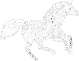 Printable Coloring Pages Horses Horse Coloring Pages To Print Horse