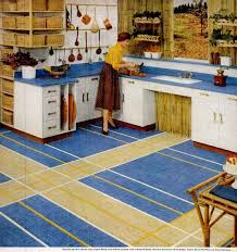 jul 23 1956 retro kitchen with yellow and blue vinyl floor tile kenroyal