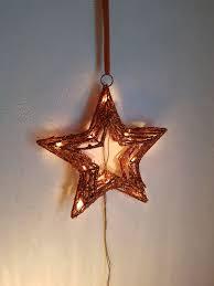Beleuchteter Weihnachtsstern In Dunkelorange