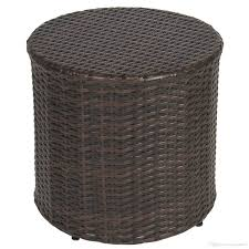 2018 outdoor wicker rattan barrel side table patio furniture garden backyard pool from hongxinlin21 65 33 dhgate com
